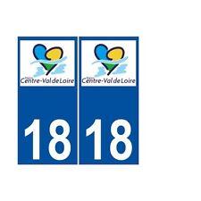 18 Cher autocollant plaque immatriculation sticker région Centre Val de Loire no
