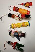 Lot of 6 Vintage Christmas Ornaments Santa Soldier Drummer Holiday Home Gift Set