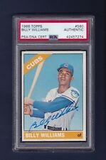 Billy Williams signed Chicago Cubs 1966 Topps baseball card Psa/Dna