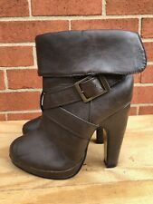 CHARLOTTE RUSSE WOMEN'S US SIZE 8 ANKLE HIGH HEEL BROWN BOOTS