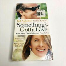 Somethings Gotta Give VHS 2004 Brand New Sealed