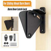 Black Lock for Sliding Barn Door Wood Door Latch Gate  EASY DIY Hardware Kit