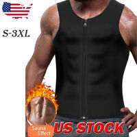 US Mens Slimming Neoprene Vest Sweat Shirt Body Shaper Waist Trainer Shapewear