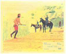 Apache original lobby card Burt Lancaster running with rifle