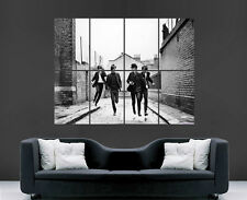 The beatles poster music band legends wall art grand géant imprimé noir et blanc