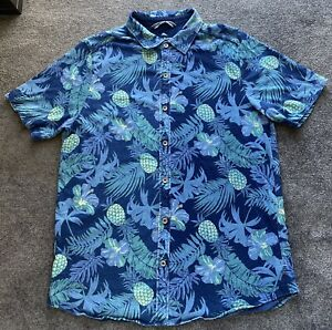 Tommy Bahama Hawaiian Style Short Sleeve Casual Shirt Men's Size Large