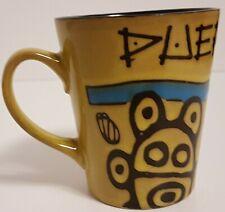 Puerto Rico Taíno Tribal Design Green Coffee Mug