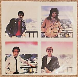 Freddie Mercury & Brian May Auto Signed Queen The Game LP Album Insert