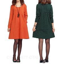 tata Tunic Blouse Cotton Ladies Casual T Shirt Womens Long Sleeve Dress Size