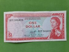 Banknote from East Caribbean 1 dollar 1965