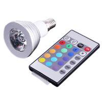 E14 3W 16 couleurs RGB LED Ampoule lampe E14 Telecommande AC 90-240V X2S8