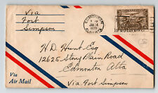 Canada 1929 FFC Edmonton to Fort Simpson (Can-515f) - Z12939