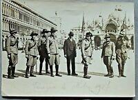 Venezia 1927Milizia Forestale Piazza San Marco Gen.Agostini foto antica fascismo