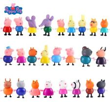25Pcs/Set Peppa Pig Family&Friends Emily Rebecca Suzy Action Figures Toys Gift