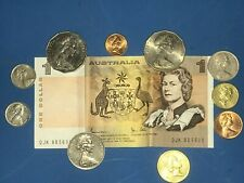Nice Grouping of Australian Currency - Paper & Coins