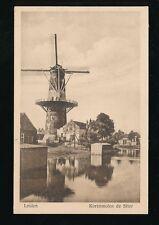 Netherlands LEIDEN Korenmolen de Stier WINDMILL c1920/30s? PPC