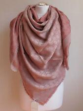 GUCCI women scarf shawl GG Guccissima 140x140 cm wool silk new 281942