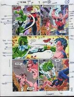 Original 1992 Captain Marvel vs Avengers Wonder Man color guide comic book art