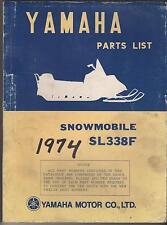 1974 VINTAGE YAMAHA SNOWMOBILE SL338F PARTS MANUAL