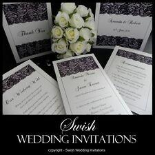 Black Lace Modern Classic Vintage Wedding Invitations & Stationery - Samples
