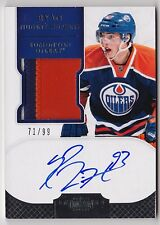 11-12 Panini Dominion RYAN NUGENT-HOPKINS Auto 3 Color Patch RC Rookie #d 99