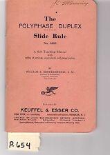 K&E Polyphase Duplex Slide Rule Manual, sliderule, EXCELLENT condition, (P654)