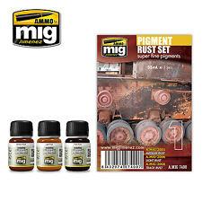 Ammo by Mig - Rust Pigments Enamel Weathering Set # MIG-7400