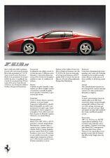 FERRARI F50 456 GT F355 GTS Spider F512 M Sportscar Pressemappe Media-Kit 1995