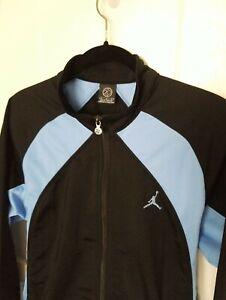 Nike JORDAN Mens Warm Up Basketball Track Jumpman Jacket Carolina Blue Black