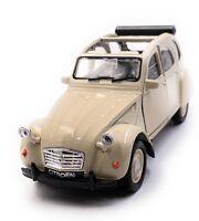 Citroën 2CV Model Car in Beige Convertible Open Scale 1:3 4 (Licensed)