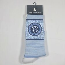 Strideline New York City Football Club Premium Crew Socks - MLS - White/Blue
