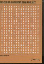 RECLAME 0021 JAZZTEL descubra 6 grandes divas do jazz promocard cartolina