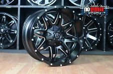 20x10 Fuel Lethal D567 Black Wheels Rims 5x127 Jeep Wrangler JK New set of 4