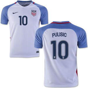 2016/17 USA Home Jersey #10 Pulisic Nike Soccer Copa America USMNT NEW