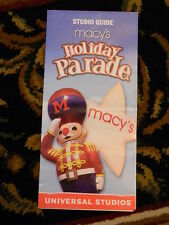 "THE ORIGINAL UNIVERSAL ORLANDO ""MACY'S DAY PARADE"" HOLIDAY PARK GUIDE FROM 2002"