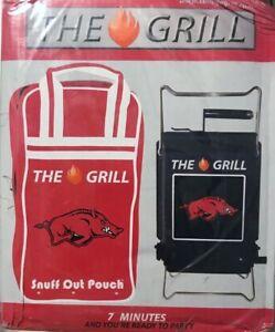 Arkansas Razorbacks SON OF HIBACHI PORTABLE BBQ GRILL wth Snuff Bag Retail $120