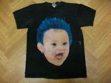 "Raras Oficial Iron Maiden Camiseta Pelo Azul Bebé Piercings-Mediano (17"" PTP)"