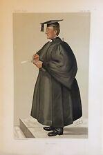 Original Vanity Fair Print June 20th 1885 'The Head' Rev E Warre - Teacher