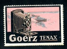 Germany Photography Poster Stamp Goerz Tenax Company Camera Motorboat