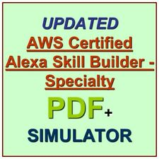 Amazon AWS Certified Alexa Skill Builder Specialty Test Exam QA PDF+SIM