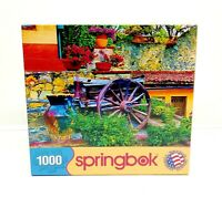 NEW Springbok Colorful Courtyard 1000 PC Jigsaw Puzzle 33-10635 2011 Flowers