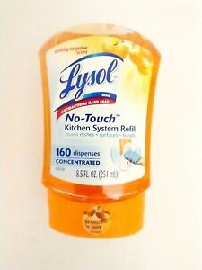 Lysol No Touch Kitchen System Refill Sparkling Tangerine 8.5 oz NEW Discontinued
