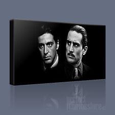 Il PADRINO Al Pacino Robert De Niro iconica Tela Art Print PICTURE ART Williams