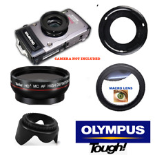 PRO HD WIDE ANGLE LENS + MACRO ATTACHMENT + LENS HOOD FOR OLYMPUS TOUGH TG5 TG4