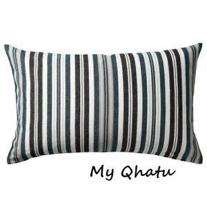 "Ikea HOSTANEMON Pillow Cushion Cover 16"" x 26"" Multicolor Stripe Cotton NEW"