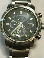 CITIZEN World Time Eco-Drive A-T Perpetual Men's Watch Item No. AT9070-51L 4113