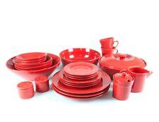 NOVA Round Dinner Set 45pc - Red