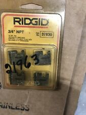 34 12r Npt S Alloy Pipe Threading Dies Set Of 4 Usa Ridgid 37830