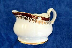 Duchess Winchester Pattern 'Burgundy + Gold Rim' Milk or Creamer Jug