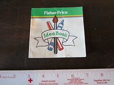1980 Vintage Fisher Price 700 Art Kit Idea book Booklet Part Only